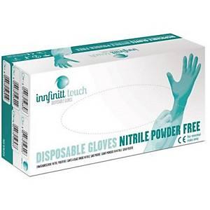 Jednorázové nitrilové rukavice Innfinitt Touch, nepudrované, velikost L, 100 ks