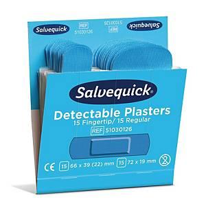 Salvequick 6754CAP muovilaastari perus/sormenpää sininen, 1 kpl=6x30 laastaria