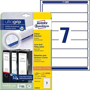 Etichette Avery Zweckform ultragrip L4760, 192x38 mm, bianco, 210 p.zi