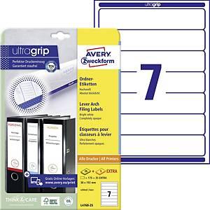 Avery Zweckform Labels, 192x38mm, white, 120 pcs