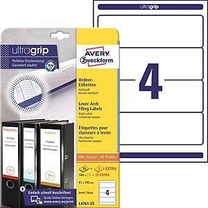Avery Zweckform Labels, 192x61mm, white, 120 pcs