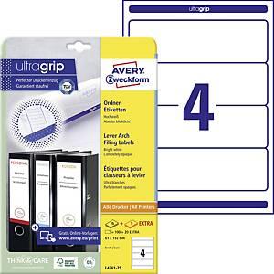 Avery Zweckform Labels, 192x61mm, white, 120 pcs