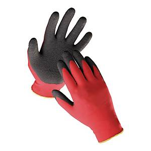 Rękawice F&F Hs-04-016, Czerwono-czarne, Rozmiar 10, 60 par