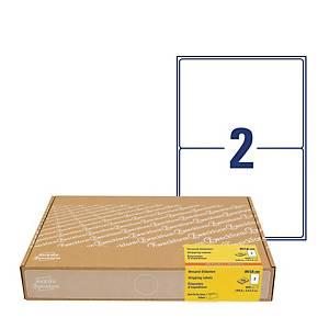 Etykiety wysyłkowe na kartony Avery Zweckform, 300 ark./op. białe 199,6x143,5mm*