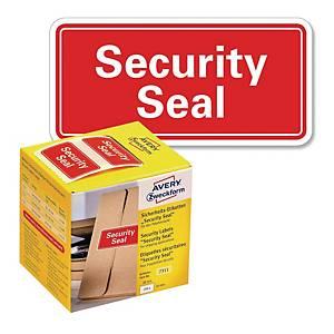 Plomby do zabezpieczania przesyłek Avery Zweckform, 38x20mm, czerwone, 200szt*