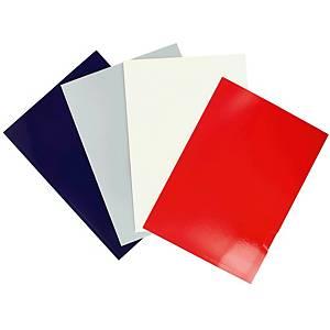 Pack de 25 subcarpetas plastificadas Gio by Elba - A4 - cartulina - plata