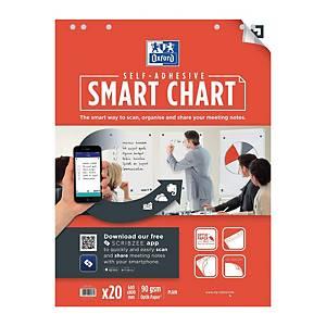 Bloc pour chevalet Oxford Smart Chart, autocollant, neutre, 20 feuilles
