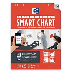 Flipoverpapir Oxford Smart Chart, selvklæbende, 60 x, 80 cm, 3 stk.