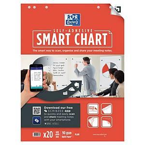 Blok do flipchartów OXFORD Smart Chart, gładki, 3 sztuki, 60 x 80 cm