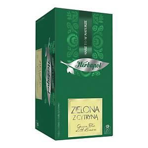 Herbata zielona HERBAPOL Breakfast z cytryną, 20 kopert