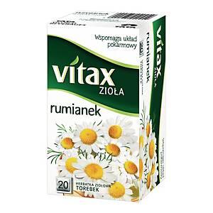 Herbata ziołowa VITAXrumianek, 20 kwadratowych torebek bez zawieszki