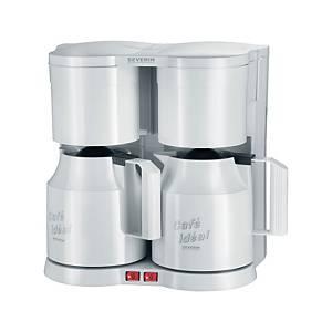 Kaffeemaschine Severin KA 5827 Duo, 16 Tassen, weiß