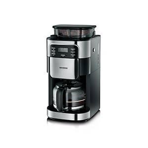 Kaffeemaschine Severin KA 4810, Grind&Brew, schwarz/silber