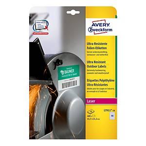 Ultra odolné etikety Avery Zweckform, rozmer 45,7 x 21,2 model L7911-10