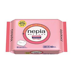 Nepia Wet Plus Refill - Pack of 60 Sheets