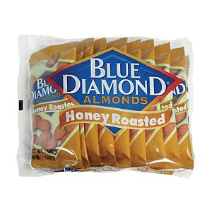 Blue Diamond Honey Roasted Almonds Nuts 14.2g - Pack of 10