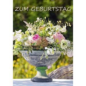 Geburtstagskarte Art Bula , 122x175 mm, Blumen
