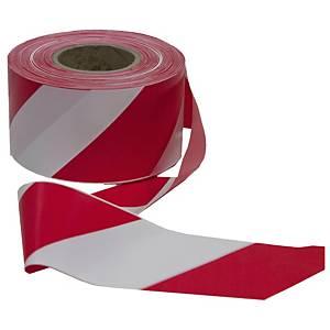 Cinta de señalización no adhesiva - 200 m - rojo/blanco