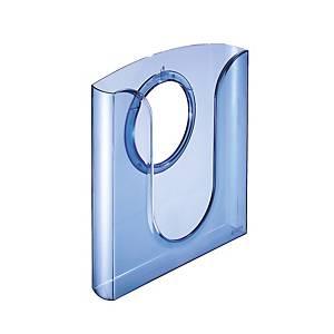Prospektový stojan Leitz 5401, stojan aadaptér, transparentný modrý