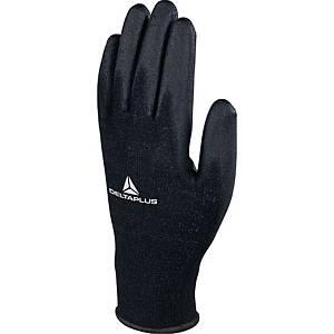 Handsker Deltaplus VE702PN, sort, str. 8, pakke a 12 par