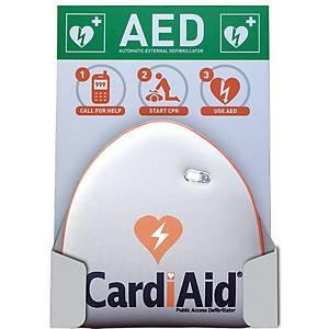 Vægophæng og skilt til hjertestarter Cardiaid, dansk