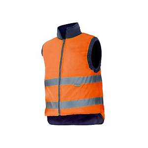 Chaleco acolchado reversible de alta visibilidad Velilla 148- naranja -talla XXL