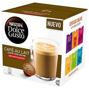 Caja de 16 cápsulas de café Dolce Gusto Café con leche descafeinado