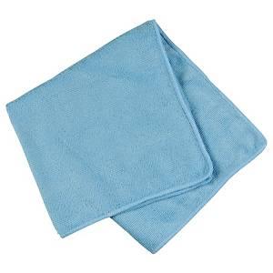Mikrofiberklud, blå, 32 x 32 cm, pakke a 20 stk.