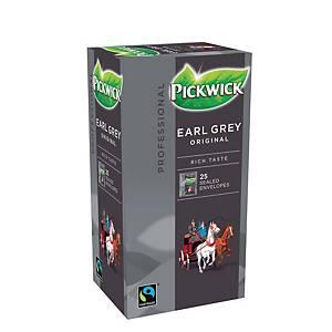 Pickwick Tea Earl Grey Fairtrade - Pack of 3 x 25 tea bags