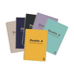 Double A Professional Wired Notebook Assorted Colour A4