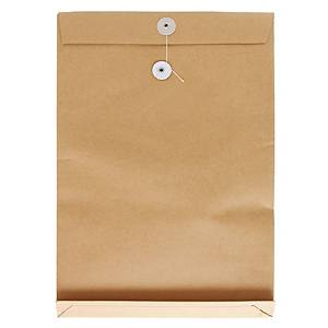 Brown Envelope with String 14 x 18 x 2 inch
