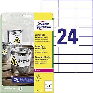 Avery 4718 velmi odolné etikety 70 x 37 mm, bílé