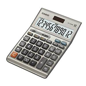Bordsräknare Casio MS-120BM, metallgrå, 12 siffror