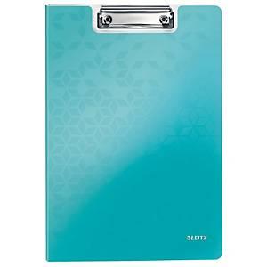 Leitz WOW podložka s klipem se zakrývací deskou A4, ledově modrá