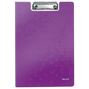 Leitz WOW podložka s klipem se zakrývací deskou A4, fialová