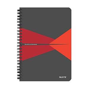 Leitz Office zápisník linkovaný A5, červený
