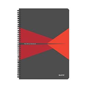 Leitz Office linkovaný zápisník A4, plast, červený