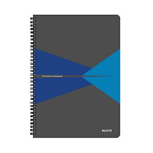 Leitz Office linkovaný zápisník A4, plast, modrý