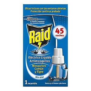Recambio insecticida para difusor eléctrico Raid 45 noches