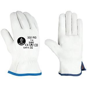 Caja de 12 pares de guantes de cuero Jomiba GTF 332 RG - talla 8