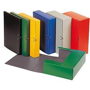 Carpeta de proyectos Karman - folio - cartón - lomo 70 mm - negro