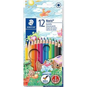 Staedtler Noris Club 144 puuvärikynä värilajitelma, 1 kpl=12 kynää