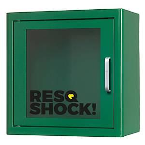 Armadio da parete p. defibr. Samaritan Heartsine PAD500P, 44x45x45x15 cm, verde