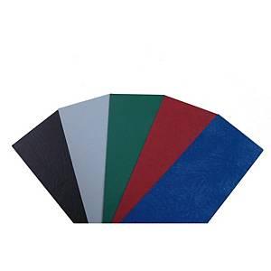Pack de 100 capas de encadernação Fellowes - A4 - efeito pele - preto