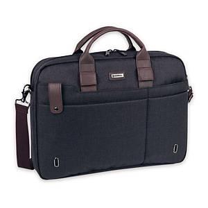 Serviette Business Gabol Master, 2 compartiments, 42x31x8 cm, gris