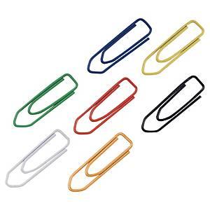 Lyreco paperclip, 25 mm, assorti kleuren, doos van 100 paperclips