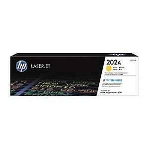 HP CF502A LaserJet Toner Cartridge (202A) - Yellow