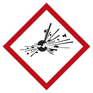 Etichetta segnaletica materiali esplosivi  20 x 20 mm - conf. 48