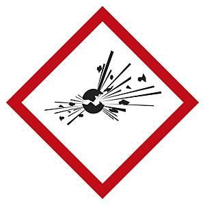 Etichetta segnaletica materiali esplosivi 100 x 100 mm - conf. 5