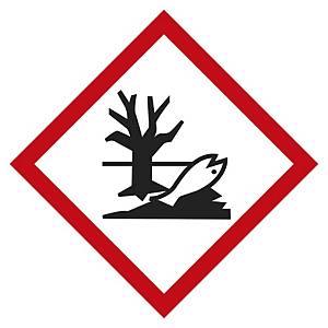 Etichetta segnaletica pericolo per l ambiente acquatico 20 x 20 mm - conf. 48